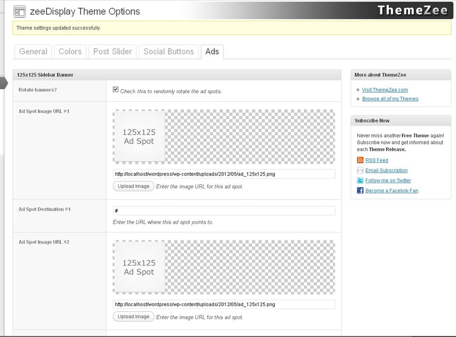 Updates: The new theme option panel – ThemeZee