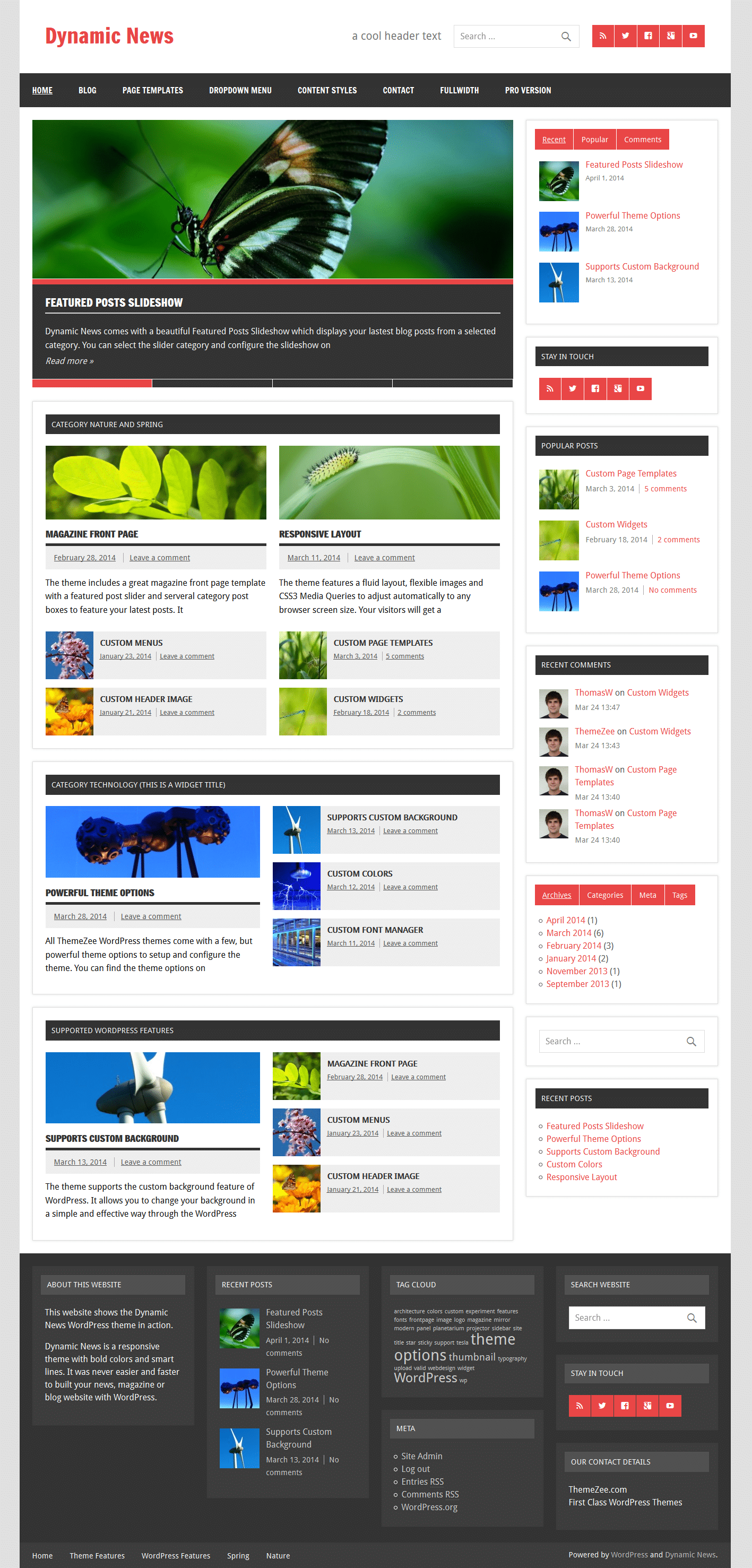 Dynamic news documentation themezee magazine frontpage pronofoot35fo Image collections
