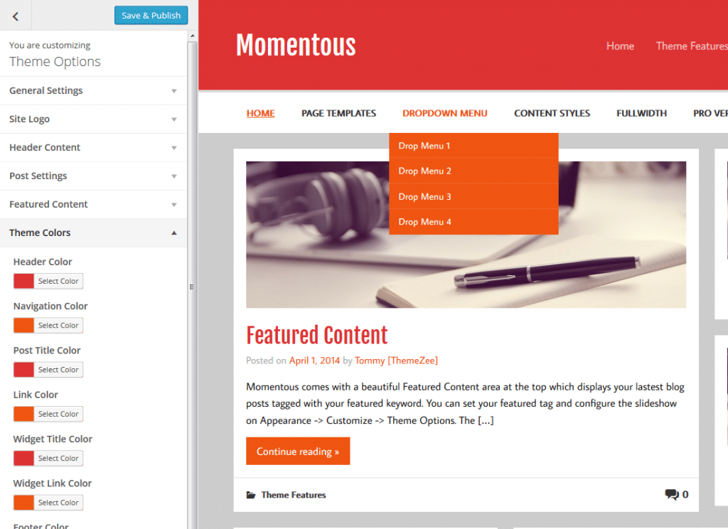 momentous-custom-colors