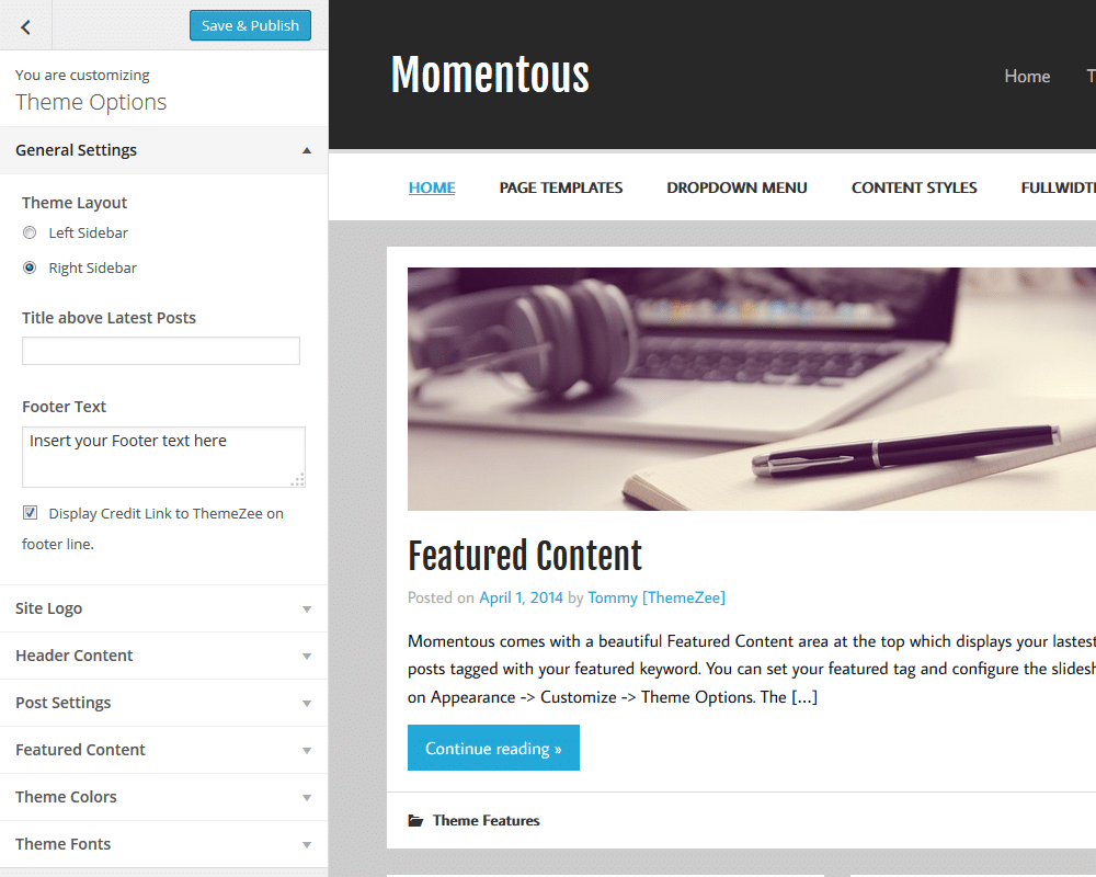 momentous-theme-options