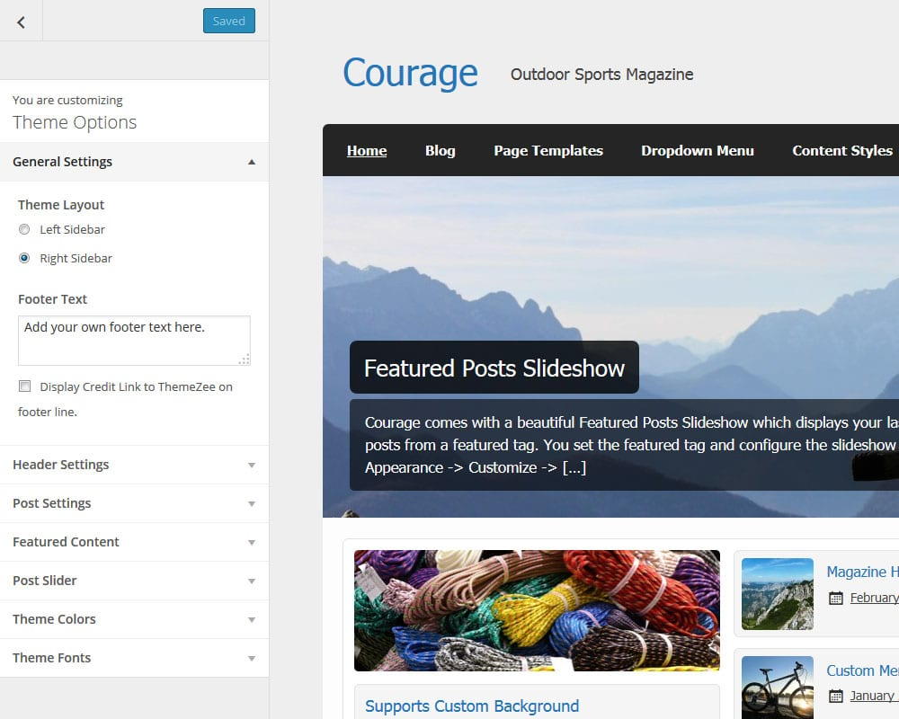 courage-theme-options