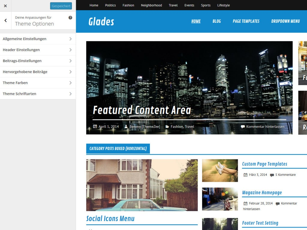 glades-theme-optionen