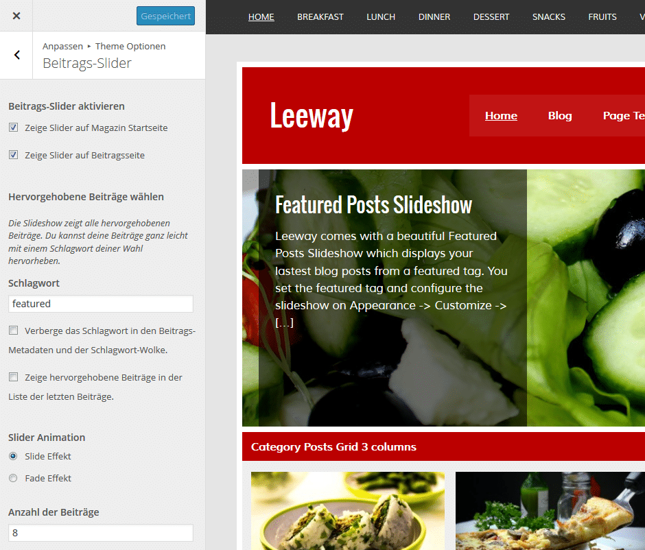 leeway-slider-einstellungen
