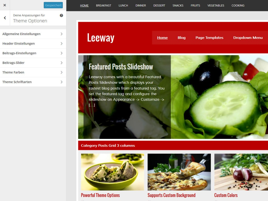 leeway-theme-optionen
