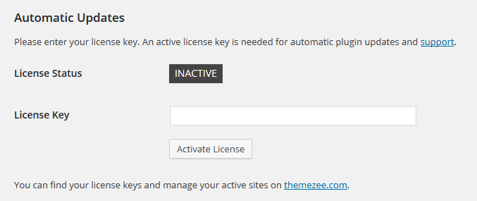 license-key-settings-page