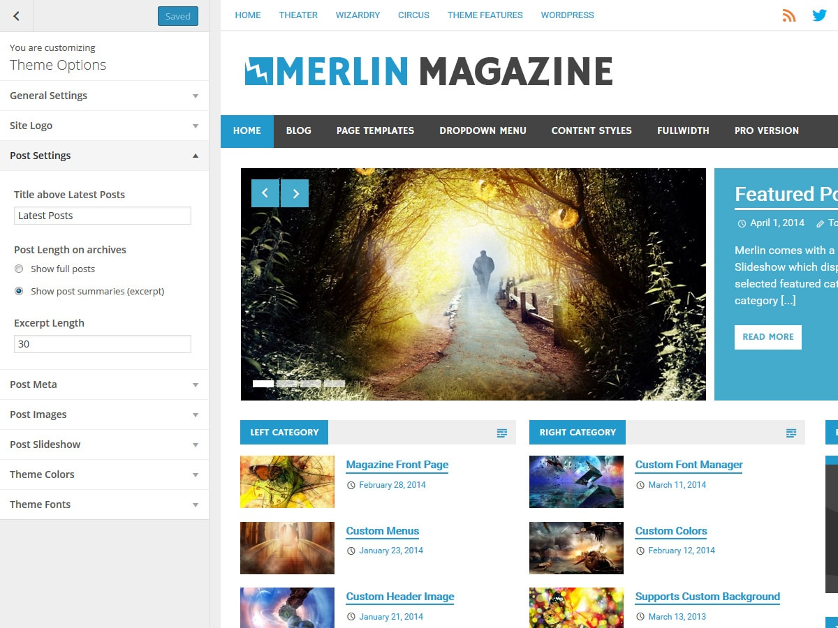 Merlin – ThemeZee