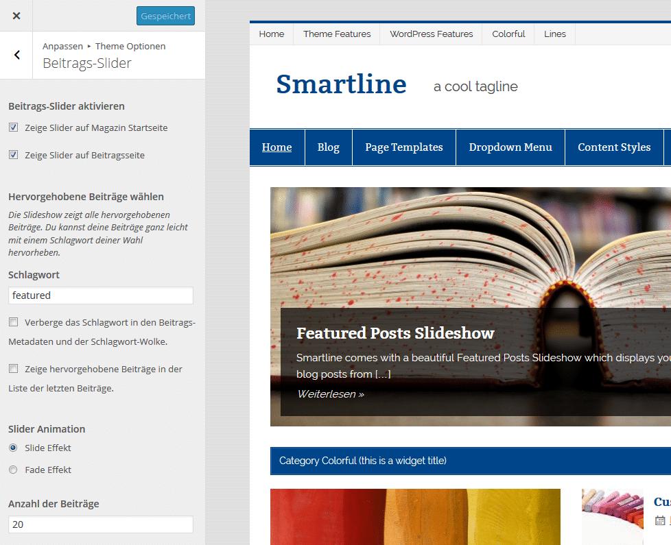 smartline-slider-einstellungen
