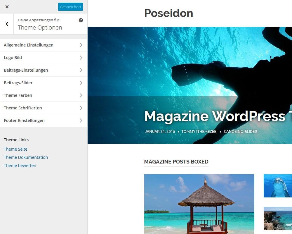 poseidon-theme-einstellungen