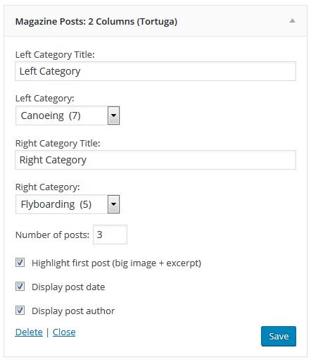 tortuga-magazine posts-two-columns-settings