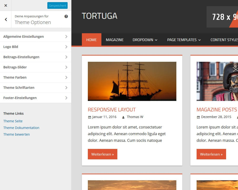 tortuga-theme-optionen