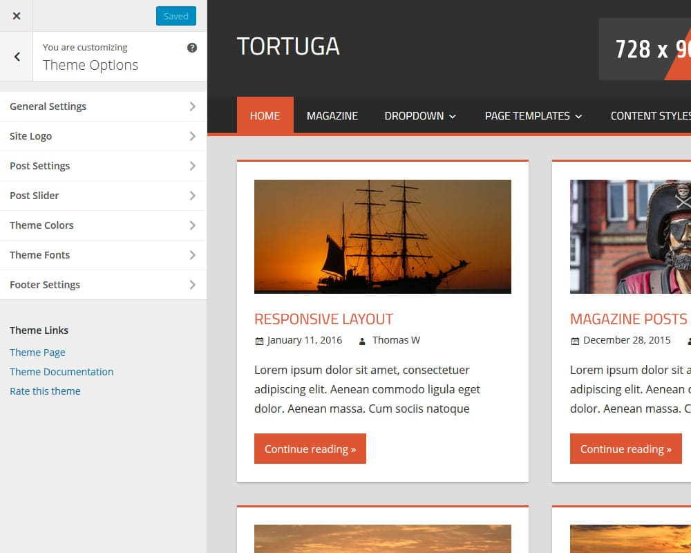 tortuga-theme-options