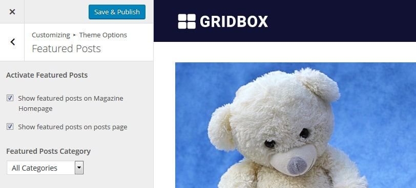 gridbox-featured-posts-settings
