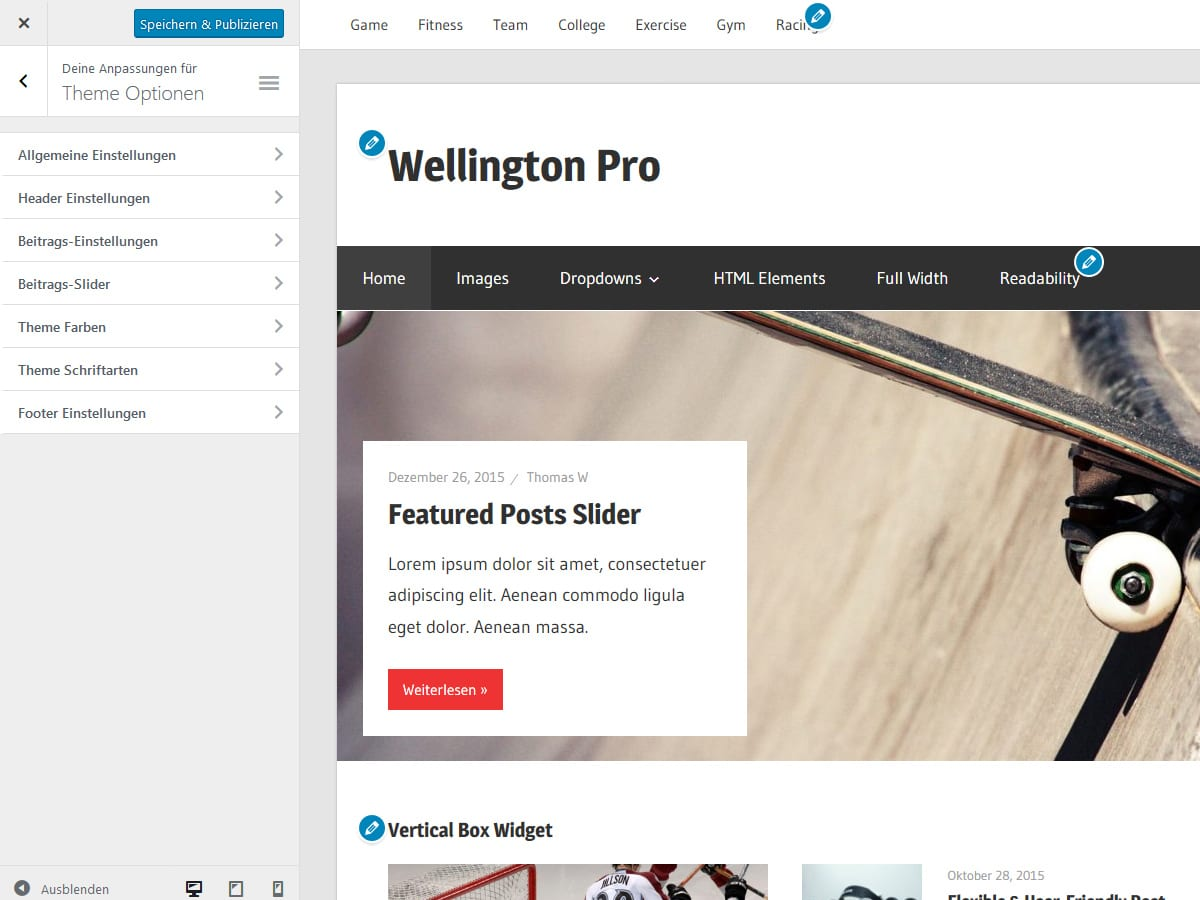 Wellington Dokumentation – ThemeZee