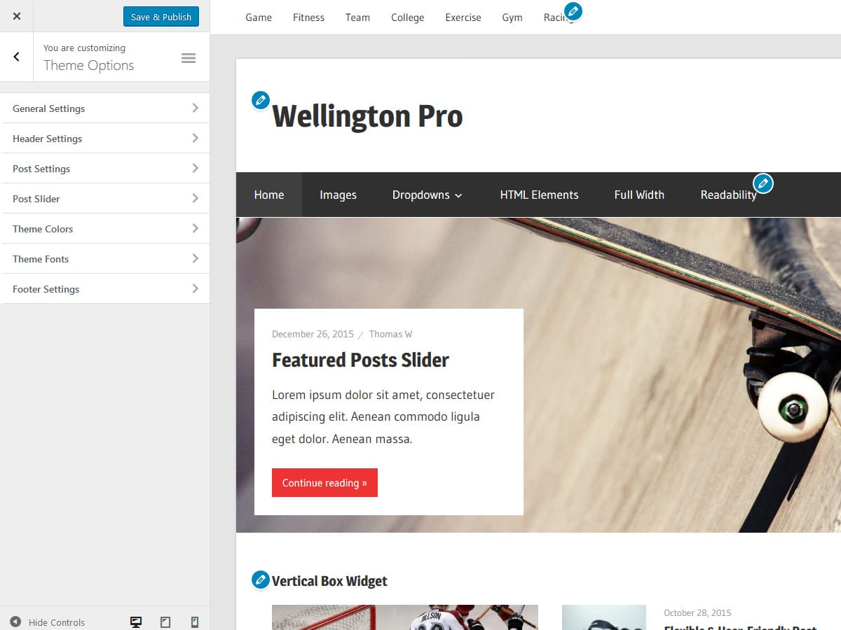Wellington Documentation – ThemeZee