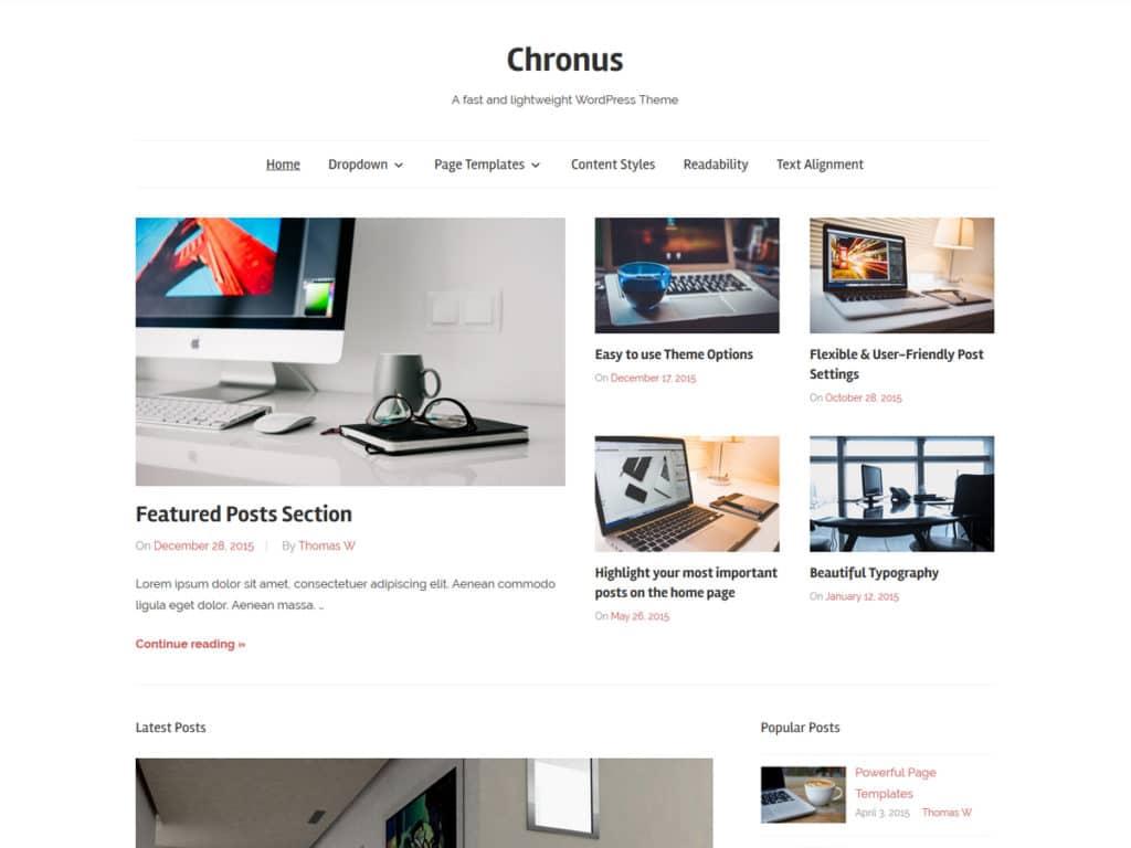 Meet Chronus - a fast and lightweight WordPress Theme – ThemeZee