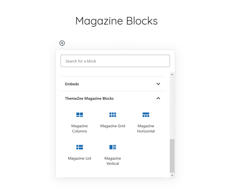 Magazine Blocks Inserter
