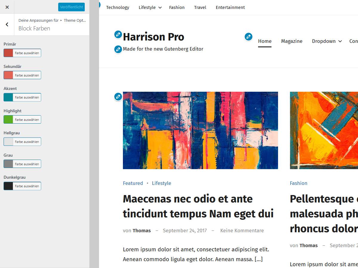 Harrison Block Farben