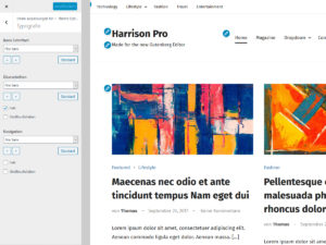 Harrison Typografie Optionen
